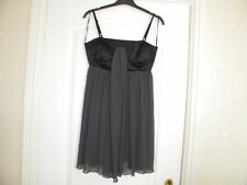 LADIES RARE BLACK AND GREY POLYESTER/ELASTANE DRESS, SIZE 10