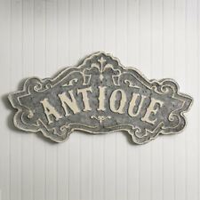 Antique Sign Distressed Gray Metal Modern Vintage Wall Decor 24 x 12 inches