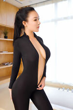 Front Zipper Bodysuit Zentai Suit Catsuit Unisex Fancy Costume Fresh HOT Sex