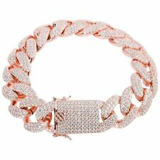 Iced Out Bling CUBAN Bracelet - 18mm rose gold