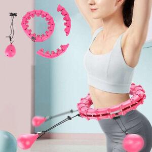 24 Knots Smart Hula Hoop Detachable Massage Exerciser Fitness Belly Fat Burning