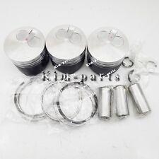 3 Sets STD Piston Set (Clip & Pin) W Rings for Yanmar 3TNV70-HGE 3TNV70 Engine