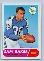 1968  SAM BAKER - Topps Football Card - # 32 - PHILADELPHIA EAGLES