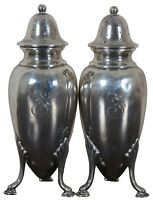 Antique Frank Herschede Co Sterling Silver Footed Salt & Pepper Shakers 5409