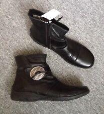REMONTE DORNDORF Stiefeletten Gr. 40 schwarz Echt Leder Ankle Boots schmal NEU