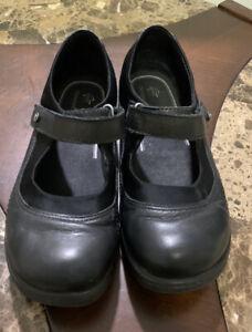 Abeo BREA Slip Resistant Mary Jane Black Leather Women's Orthotic Shoes Size 5M