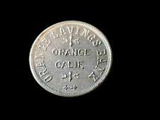 Orange, CA Orange Savings Bank, early California merchant token Ex Lerch