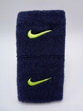 "Nike Promo Premier Wristbands Obsidian/Volt 3"" Men's Women's"
