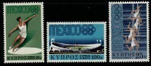 CYPRUS SG324/6 1968 OLYMPIC GAMES MNH