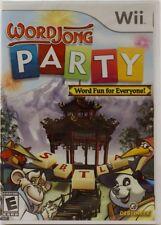 WORDJONG PARTY (word fun Wii game) Free US Shipping