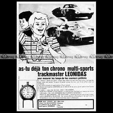 LEONIDAS Chrono Chronomètre TRACKMASTER 1969 - Pub Publicité / Advert Ad #A1151