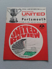 MANCHESTER UNITED V PORTSMOUTH FOOTBALL LEAGUE CUP 3RD ROUND OCTOBER 7TH 1970