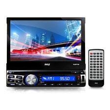 """Pyle PLBT73G 7"""" Flip-Out Single Din DVD Receiver With GPS And Bluetooth"""