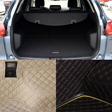 PU Leather Rear Trunk Cargo Liner Protector Mat Seat Back Pad For Mazda CX-5