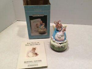 Schmid Beatrix Potter music box/book set in box, Rock A Bye Baby