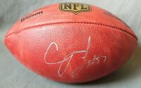 """CJ Mosley Baltimore Ravens SIGNED FOOTBALL autographed NFL """"The Duke"""" Official"""