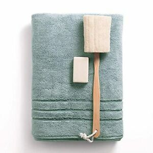 Cariloha 600 GSM Bamboo & Turkish Cotton Bath Towel - Odor Resistant, Highly Abs