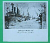 UM6) Marine Hilfskreuzer in Bremerhaven Schiffe Dampfer 1914-1918 1.WK WWI