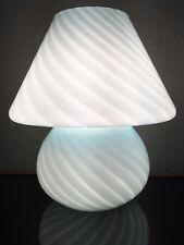 VTG MURANO VENETIAN VENINI VIETRI MUSHROOM TABLE LAMP PALE BLUE SWIRL VISTOSI