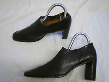 Anne Klein Original Brown Leather womans Slip on Court Shoes New Size UK 6 6.5 7