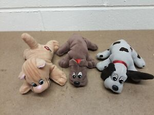 Lot of 3 Vintage Mini Pound Purries & Puppies Plush Dogs and Cat. Tonka