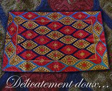 Très beau Tapis en Laine crochetée, très solide coloris rouge-bronze - TL1