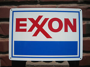 EXXON Gas Station metal sign Service GASOLINE Mobil Pump sign