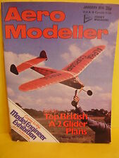 AEROMODELLER JANUARY 1978 RED ARROW MIKE WOODHOUSE FEATHERLITE HELICOPTER
