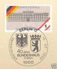 Berlin 1990: Bundeshaus 40 Jahre! Nr 867 mit sauberem Ersttags-Sonderstempel! 1A