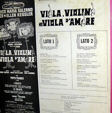 OST  LP VIOLA VIOLINO E VIOLA D'AMORE   ITALY  67  KESSLER GARINEI GIOVANN INI
