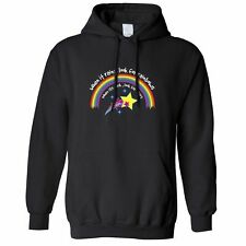 Inspirational Hoodie When It Rains, Look For Rainbows Slogan Positive Hooded