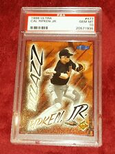 "CAL RIPKEN JR. 1998 ULTRA "" PIZZAZZ "" ORIOLES HALL OF FAMER PSA 10 ☆ VERY NICE"
