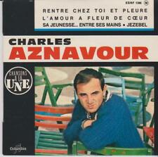 CHARLES AZNAVOUR EP FRANCE LANGUETTE  RARE SUR PATHé  JEZEBEL+4