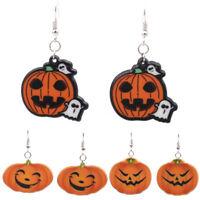Halloween Women Pumpkin Drop Dangle Earrings Ear Stud Earrings Gift Jewelry HC