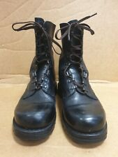 E236 MENS COSMOPED BLACK SHINY LEATHER ARMY STYLE WORK / CASUAL BOOTS UK 7 250mm