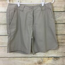 Womens Nike Golf Dri-Fit Tan Shorts Sz 10