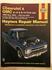 1982 - 1993 Chevrolet GMC S-10 S15 Haynes Manual 24070 1992 1991 1990 1989 1988
