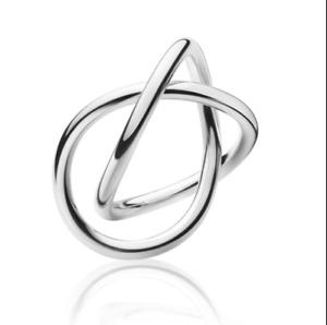 Georg Jensen Sterling Silver Alliance Ring 554A sze 6.5 & 6.75