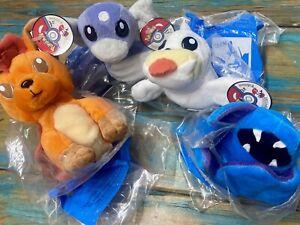 Pokemon Vintage 1998 Lot of 4 KFC Plush Zubat, Dratini, Seel, Vulpix w/ tags