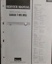 Sansui T-M5/M5L tuner service repair workshop manual (original copy)