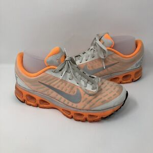 Nike Air Max TailWind +5 Running Shoes Womens Size 9 555415-108 Wht/Org/Silver