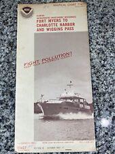 Vtg 1977 FL Ft Myers Charlotte Harbor Nautical Chart 11427 Map 15th Ed. NOAA