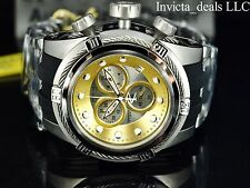 Invicta Herren Reserve 52mm Bolt Zeus Swiss Made ETA Chrono Gold/Silber Zifferblatt Uhr