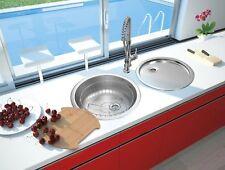 Spüle Einbauspüle Spülbecken rund Rundbecken Edelstahl Küchenspüle Set respekta