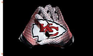 Kansas city CHIEFS Football team Gloves flag 90x150cm 3x5ft best banner