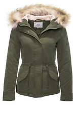 Only Damen Parka Winterjacke Kurzmantel Kapuzenjacke Damenjacke Color NEU SALE