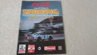 1979 The Coca Cola 12 Hours Of Sebring auto race program IMSA Camel GT Kendall