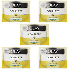 5 Olay 3in1 Day Cream Sensitive Moisturiser Essentials Complete Care SPF15 50ml