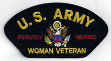 WOMAN VETERAN PROUDLY SERVED HAT PATCH PIN UP US ARMY GIFT WAC MOM DAUGHTER