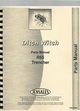 Ditch Witch R 65 Trencher Chassis Operators Manual Parts Catalog